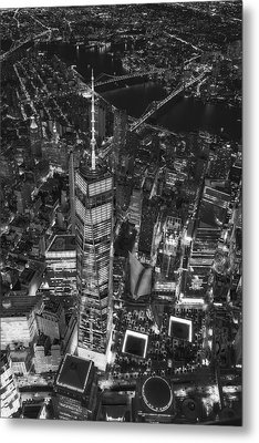 Above The Freedom Tower Wtc Bw Metal Print by Susan Candelario