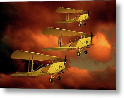 Above The Red Skys Metal Print by Steven Agius