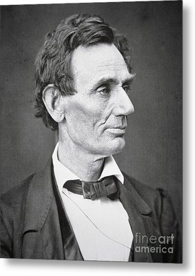 Abraham Lincoln Metal Print by Alexander Hesler