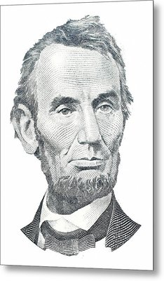 Abraham Lincoln Metal Print by David Houston