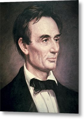 Abraham Lincoln Metal Print by George Peter Alexander Healy