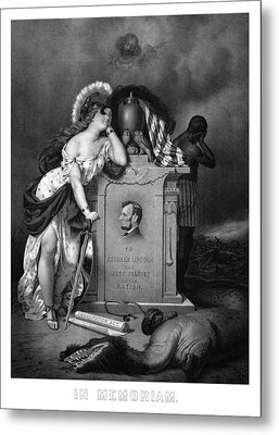 Abraham Lincoln In Memoriam  Metal Print by War Is Hell Store