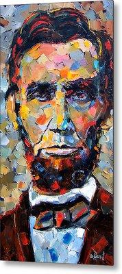 Abraham Lincoln Portrait Metal Print by Debra Hurd