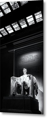 Abraham Lincoln Seated Metal Print by Andrew Soundarajan