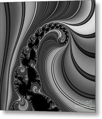 Abstract 121 Bw Metal Print by Rolf Bertram