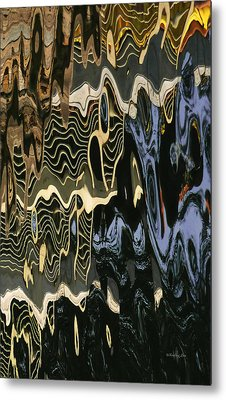 Abstract 13 Metal Print by Xueling Zou