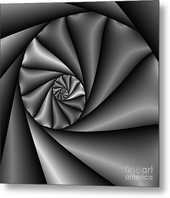 Abstract 222 Bw Metal Print by Rolf Bertram