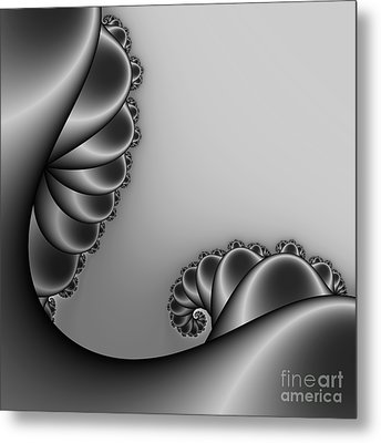 Abstract 226 Bw Metal Print by Rolf Bertram