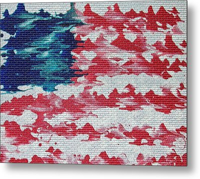 Abstract American Flag  Metal Print by Brian Roberts