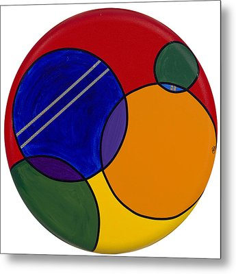 Abstract Circle 3 Metal Print by Patty Vicknair