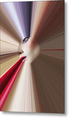 Abstract Face Metal Print by Garry Gay