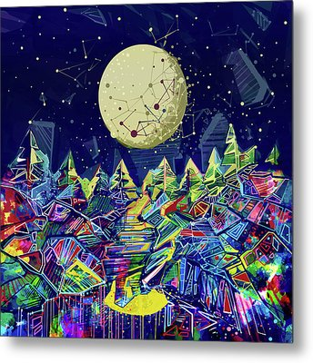 Abstract Forest Metal Print by Bekim Art