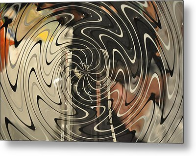 Abstract Glass 3 Metal Print by Marty Koch