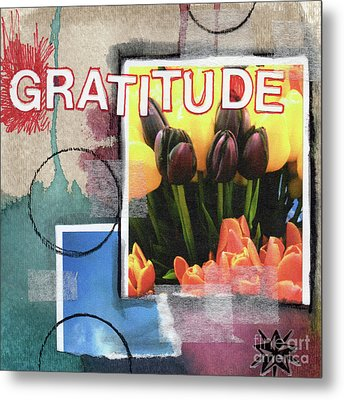 Abstract Gratitude Metal Print by Linda Woods