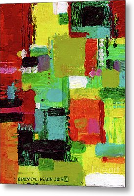 Abstract In Orange Metal Print by Genevieve Esson