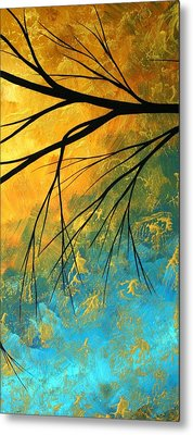 Abstract Landscape Art Passing Beauty 2 Of 5 Metal Print by Megan Duncanson