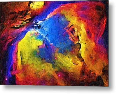 Abstract Landscape Metal Print by Gina Roseanne