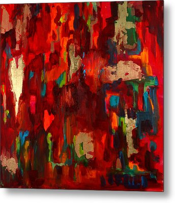 Abstract Love Metal Print by Billie Colson
