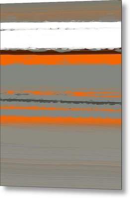 Abstract Orange 2 Metal Print by Naxart Studio