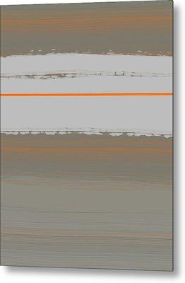 Abstract Orange 4 Metal Print by Naxart Studio