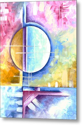 Abstract Original Art Contemporary Colorful Painting By Megan Duncanson Spring Fever I Madart Metal Print by Megan Duncanson