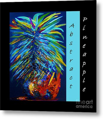 Abstract Pineapple Metal Print by Eloise Schneider