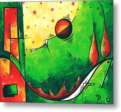 Abstract Pop Art Original Painting Metal Print by Megan Duncanson