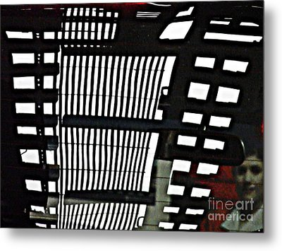 Abstract Reflection 16 Metal Print by Sarah Loft