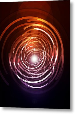 Abstract Rings Metal Print by Michael Tompsett