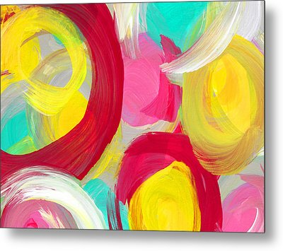 Abstract Rose Garden In The Morning Light 1 Metal Print by Amy Vangsgard