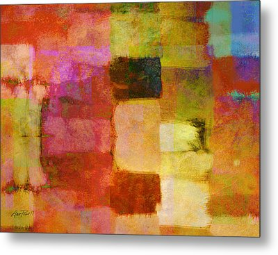 Abstract Study One Metal Print by Ann Powell