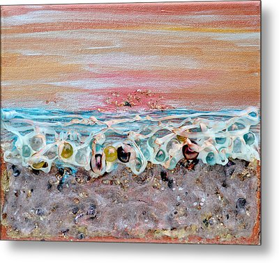 Abstract Sunset Metal Print by Regina Valluzzi