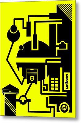 Abstract Urban 03 Metal Print by Dar Geloni