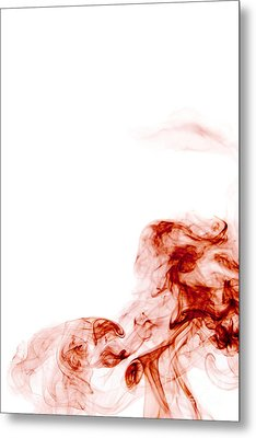 Abstract Vertical Blood Red Mood Colored Smoke Wall Art 01 Metal Print by Alexandra K