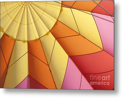 Abstract View Of Hot Air Balloon Metal Print by Juli Scalzi