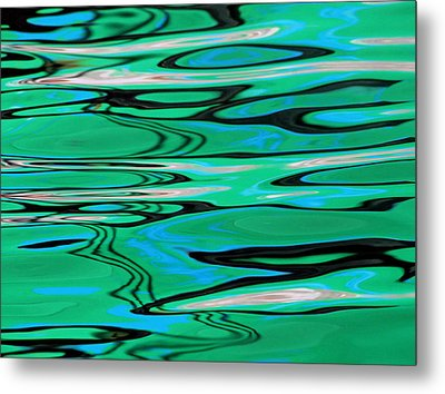 Abstract Water Reflection 224 Metal Print by Andrew Hewett