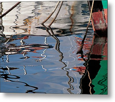 Abstract Water Reflection 228 Metal Print by Andrew Hewett