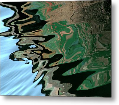 Abstract Water Reflection 232 Metal Print by Andrew Hewett