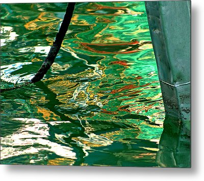 Abstract Water Reflection 251 Metal Print by Andrew Hewett