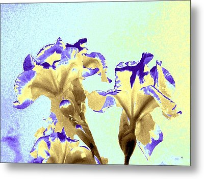Abstract Watercolor Irises  Metal Print by Will Borden