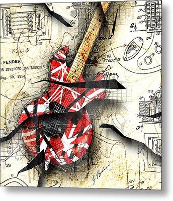 Abstracta 35 Eddie's Guitar Metal Print by Gary Bodnar