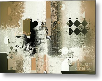 Abstracture - 21gold01 Metal Print by Variance Collections