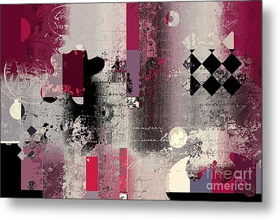 Abstracture - 21pp2a Metal Print by Variance Collections