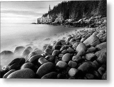 Acadia Radiance - Black And White Metal Print by Thomas Schoeller
