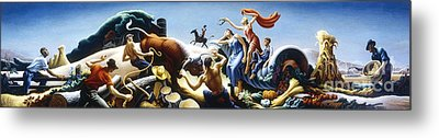 Achelous And Hercules Metal Print by Pg Reproductions