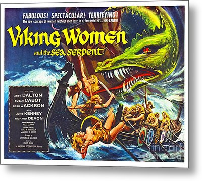 Action Movie Poster 1957 Metal Print by Padre Art