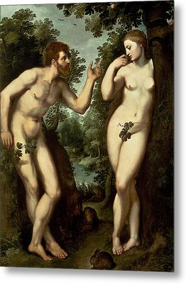 Adam And Eve Metal Print by Peter Paul Rubens