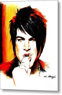 Adam Lambert Metal Print by Lin Petershagen