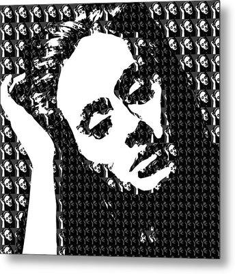 Adele 21 Album Cover Digital Art Metal Print by Ryan Dean