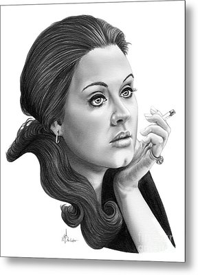 Adele Metal Print by Murphy Elliott